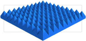 Acoustic 2″ Pyramid Foam Panel