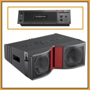 Audiocenter K-LA28 DSP Four Line Array Speakers in Flightcase