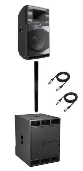 Audiocenter SA3118 + SA315 4000w Speaker Combo