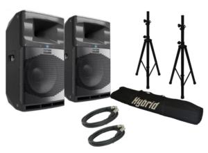 Audiocenter SA315 + Stands 4000w Speaker Combo