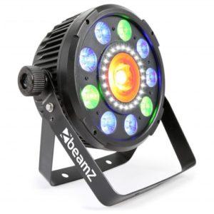 Beamz BX96 PAR 64 WITH Cob LED and Strobe 9x 9W 6-1 RGBAW-UV LEDS