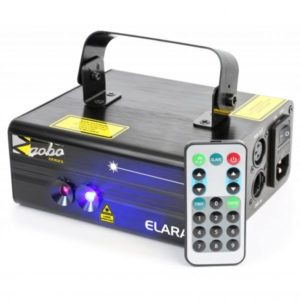 Beamz Elara Double Laser 300MW RB Gobo DMX IRC