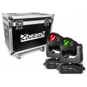 Beamz Ignite 180B LED Moving Head Beam 2pc in Flight Case
