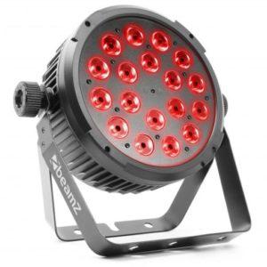 Beamz LED Flatpar 18x6W 4-in-1 RGBW DMX IRC
