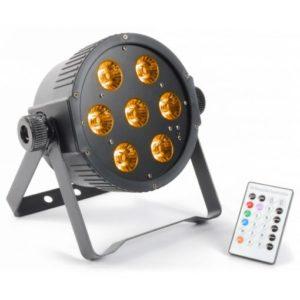 Beamz LED Flatpar 7 x 15w RGB LEDS DMX IR Remote Contro