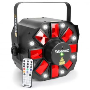 Beamz LED Multi ACIS III 8 way 60w LED RGBW with Laser DMX