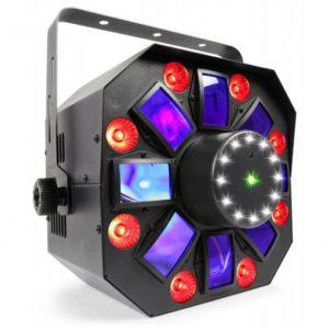Beamz LED Multi ACIS IV RGBWAUV with Laser & RGB-UV Strobe DMX