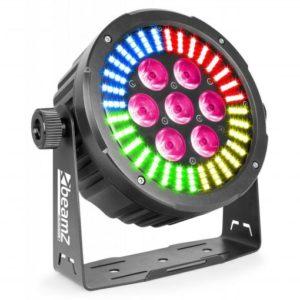 Beamz LED PAR 64 7x 12W RGBAW-UV IR DMX
