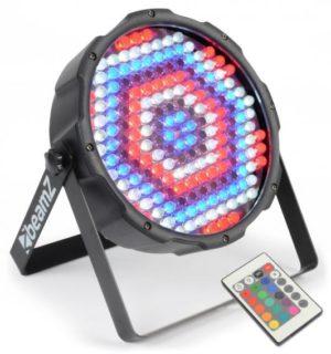 Beamz LED PAR 64 Flatpar 186X 10MM RGBW DMX