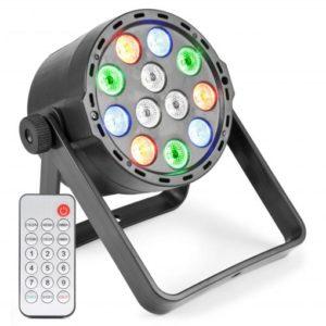 Beamz LED PAR 12x 1W RGBW DMX IR (Battery)
