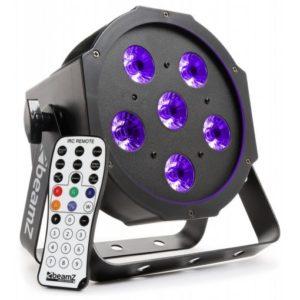 Beamz LED PAR 56 Flatpar 6x 6W UV LEDs DMX IRC