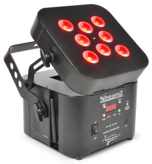 Beamz LED WI-PAR 8 X 3w RGB LEDS (Battery) 2.4GHZ DMX
