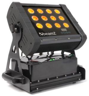 Beamz LED Wall Wash 12 X 8W Quad RGBW LEDS IP65 (Battery) 2,4GHZ DMX