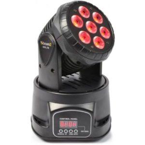 Beamz MHL-74 Mini Moving Head 7x 10W 4-in-1 LED