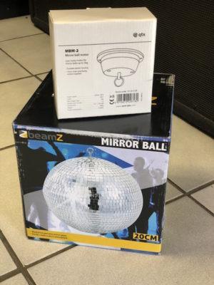 Beamz Mirror Ball 20cm with Motor