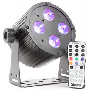 Beamz Pro PAR 4X 18W 6-1 HEX DMX IR