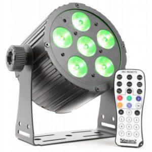 Beamz Pro PAR 6x 18W 6-1 HEX DMX IR