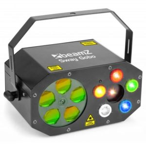 Beamz Sway GOBO Laser Red + Green Strobe IRC
