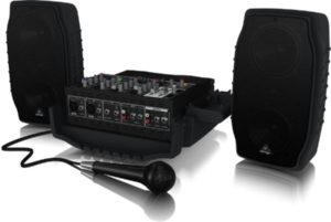 Behringer Europort PPA200 Ultra-Compact 200-Watt 5-Channel Portable PA System with Wireless Microphone Option