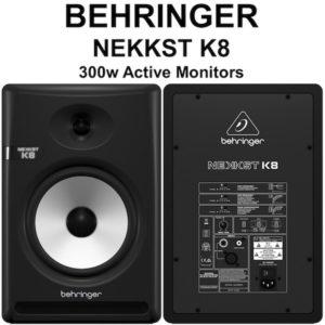 Behringer NEKKST K8 (Pair) – Audiophile Bi-Amped 8″ Studio Monitors