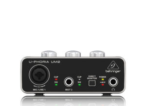 Behringer UM2 2×2 USB Audio Interface with XENYX Mic Preamplifier