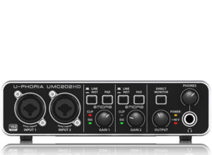 Behringer UMC202HD 2×2, 24-Bit/192 kHz USB Audio Interface w/ Midas Mic Preamplifiers