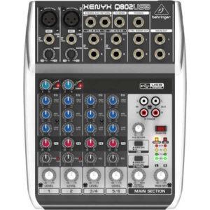 Behringer Xenyx Q802USB Compact Mixer