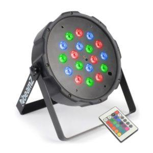 Beamz LED PAR 64 Flatpar 18x 1w RGB DMX IRC