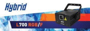 Hybrid L700RGB/F Red,Green,Blue Laser-Animated ,3D Plane/Dotmatrix Efx