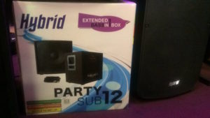 Hybrid Party Sub 12 Active 12″ Sub Speaker/Cable Bundle