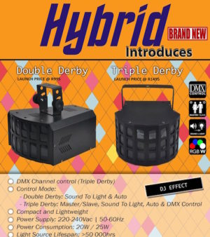 Hybrid Tripple Derby LED Effects Light