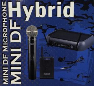 Hybrid U-DF Mini Dual Handheld Microphone System UHF
