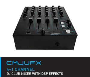 HybridDJ CM4UFX 4+1 Channel DJ Club Mixer USB/ DSP Effects