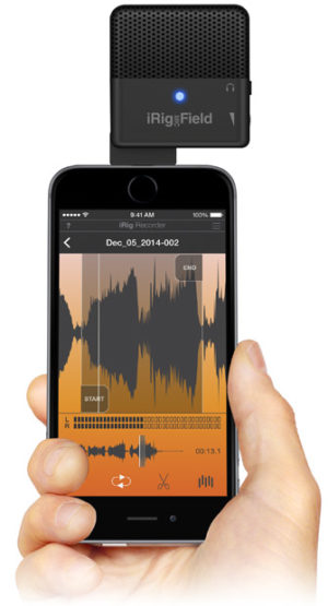 IK Multimedia iRig Mic Field Ultra-compact audio/video stereo field mic for iPhone, iPad and iPod touch