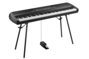 Korg SP-280 Digital Piano (White or Black) with Fitted Stand & Sustain Pedal