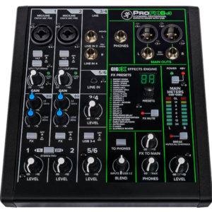 Mackie ProFX6 V3 Compact 6 Channel Mixer with USB and Effects Mixing Desk