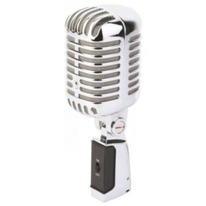 Power Dynamics PDS-M02 Retro Style Chrome Microphone