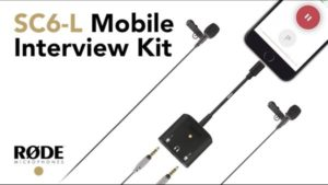 RODE SC6-L Mobile Interview Kit for Apple Devices + 2 SmartLav+ Microphones