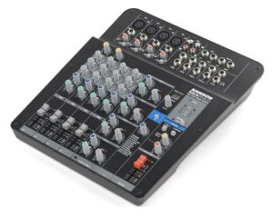 Samson MixPad MXP124FX – Compact, 12-Input Analog Stereo Mixer with Effects and USB