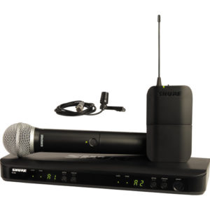 Shure BLX1288/CVL Dual-Channel Wireless Combo Lavalier & Handheld Microphone System