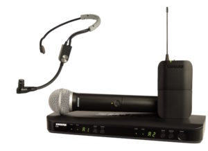 Shure BLX1288E/SM35 Wireless Combo System with SM35 Headset and SM58 Handheld Microphone