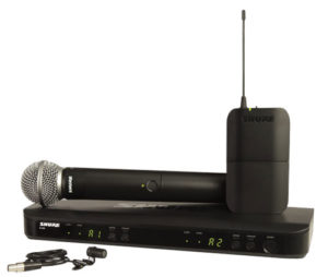 Shure BLX1288E/W85 Wireless Combo System with SM58 Handheld Mic and WL185 Lavalier