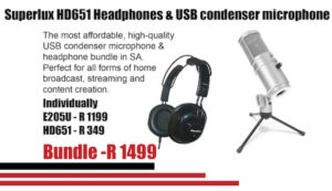 Superlux HD651 Headphone + USB Condensor Microphone