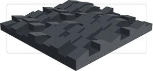 Acoustic Diffusion Tile
