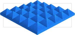 Acoustic 4″ Pyramid Foam Panel