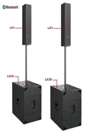 Audiocenter L83+L83S Active DSP-controlled Column Speaker System