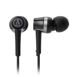 Audio-Technica ATH-CKR30iSBK SonicFuel In-Ear Headphones with In-line Mic & Control