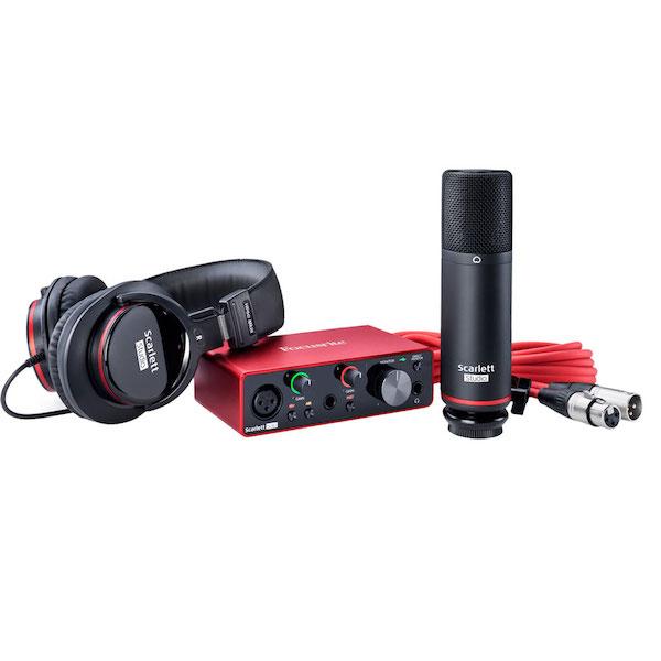 Audio Interface, Headphones and Microphone Bundle