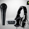 Microphone Audio Interface and Headphone Kit