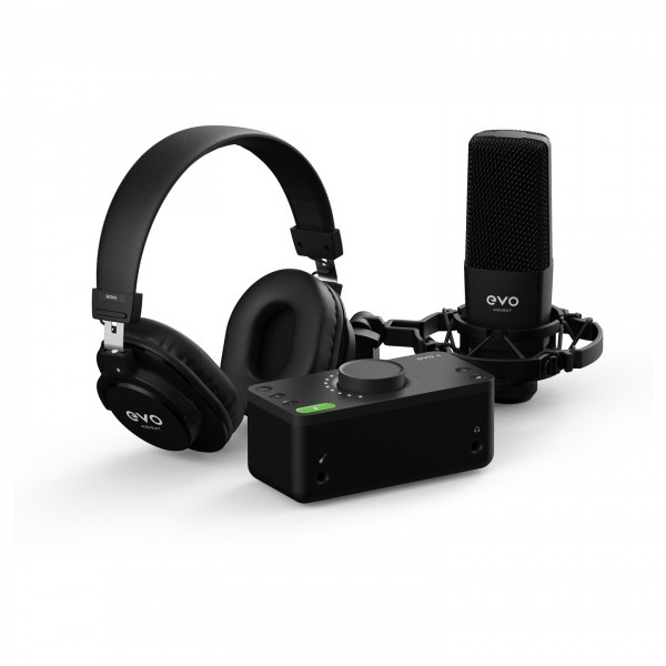 Starter Recording Kit of Headphones, Microphone and Audio Interface